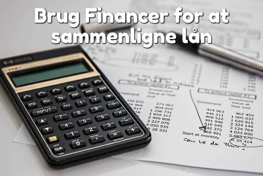 Brug Financer for at sammenligne lån